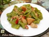 Pappardelle alle bietole pancetta e carciofi Blog Profumi Sapori & Fantasia