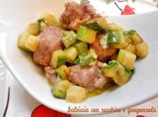 Salsiccia con zucchine e gorgonzola