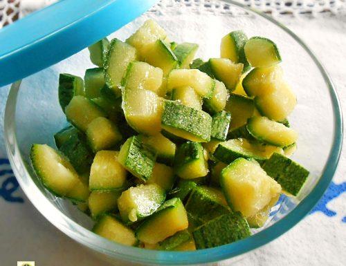Come congelare le zucchine metodo infallibile