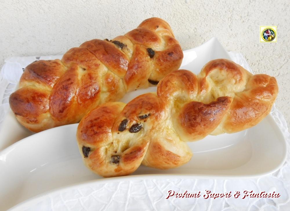 Treccia di pan brioche con uvetta Blog Profumi Sapori & Fantasia