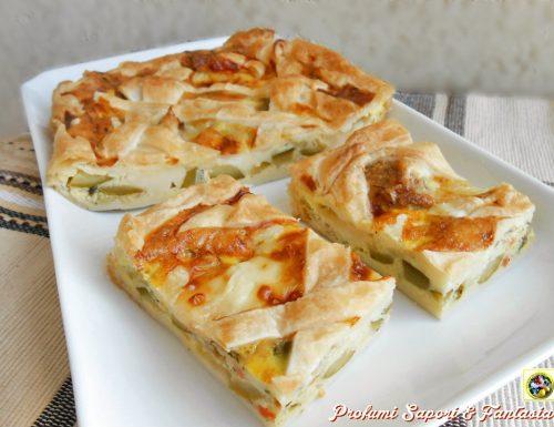 Torta salata di sfoglia con stracchino e verdure