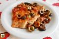 Petto di tacchino al pomodoro basilico e olive