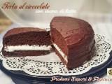 Torta al cioccolato con crema di latte Blog Profumi Sapori & Fantasia