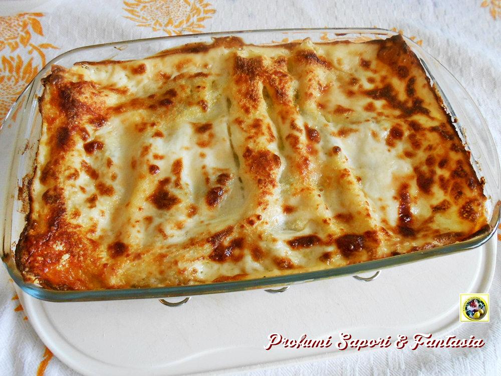 Lasagne al forno con pesto e scamorza Blog Profumi Sapori & Fantasia