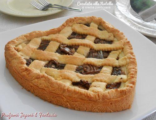 Crostata alla Nutella e crema pasticcera