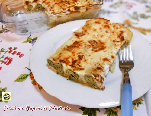 Cannelloni di ricotta e spinaci al forno