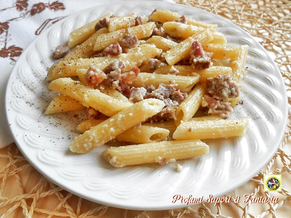 Pasta con formaggio di fossa e pancetta Blog Profumi Sapori & Fantasia