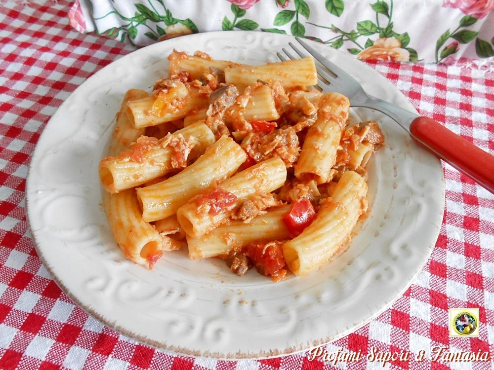 Pasta con sgombro e tonno Blog Profumi Sapori & Fantasia