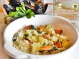 Risotto con cozze e patate Blog Profumi Sapori & Fantasia