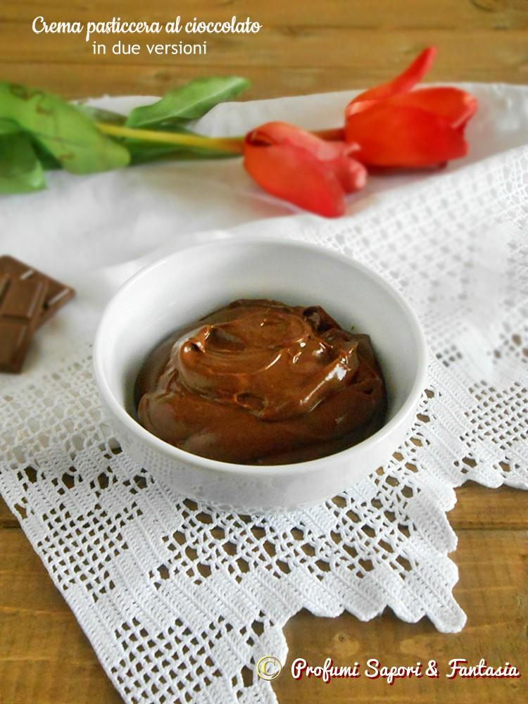 Crema pasticcera al cioccolato in due versioni