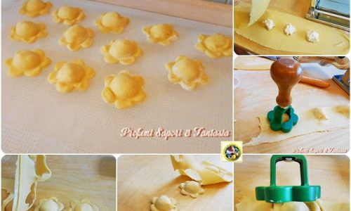 Ravioli ripieni al prosciutto cotto e formaggi