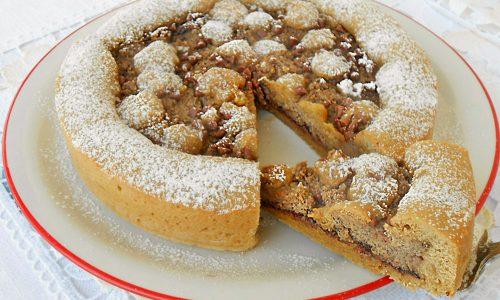 Crostata di frolla al caffe con ricotta e Nutella