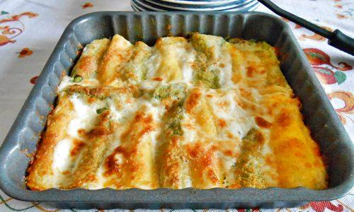 Cannelloni ripieni ai 4 formaggi ricetta