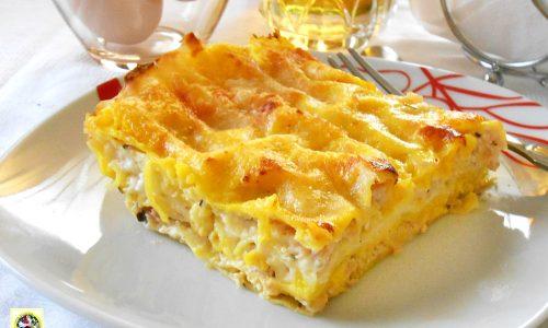 Lasagne allo zafferano mortadella e crescenza