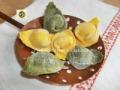 Tortelloni ricotta e spinaci verdi e gialli