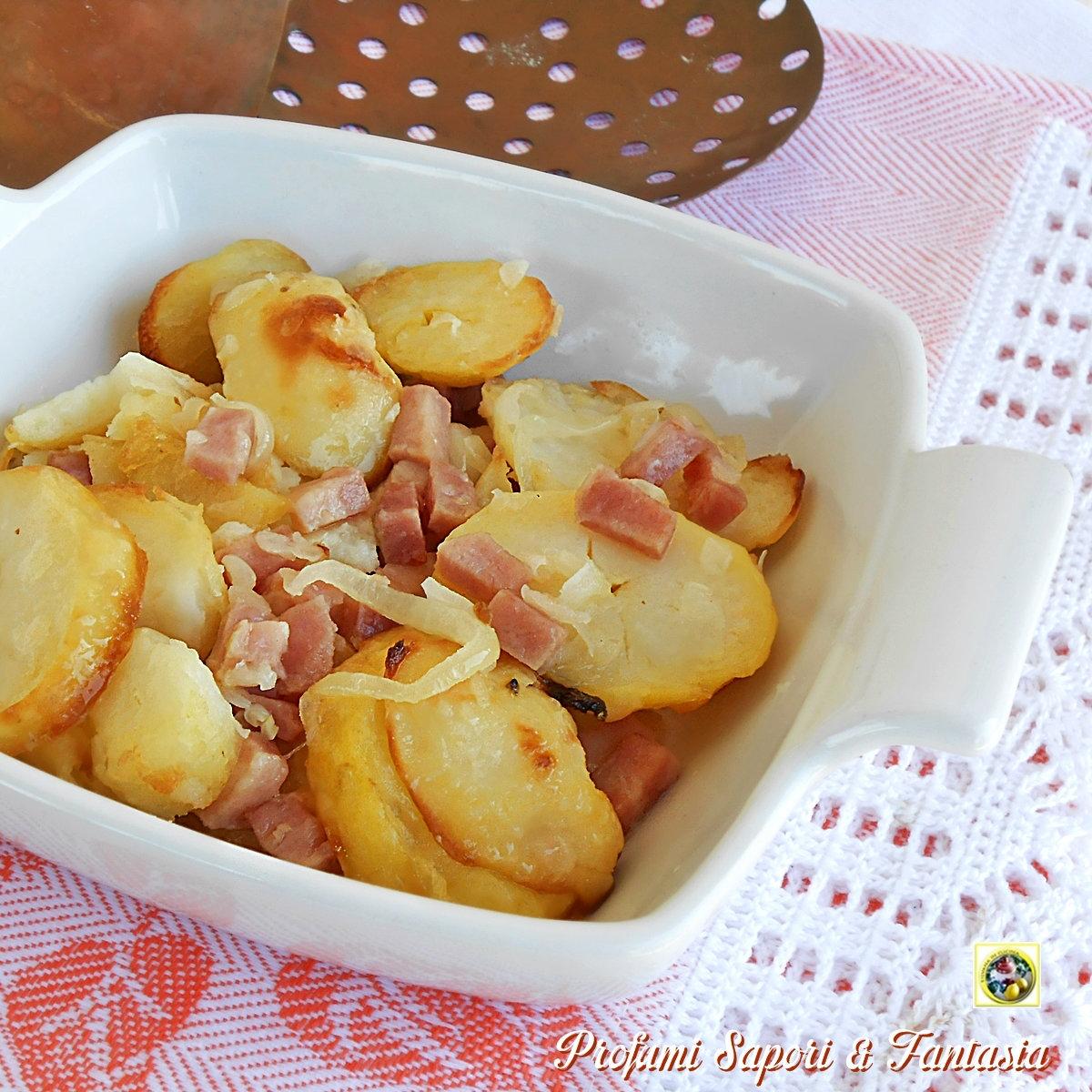 Patate in padella con cipolle e prosciutto Blog Profumi Sapori & Fantasia