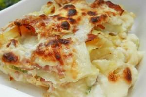 Sformato di patate zucchine e mortadella