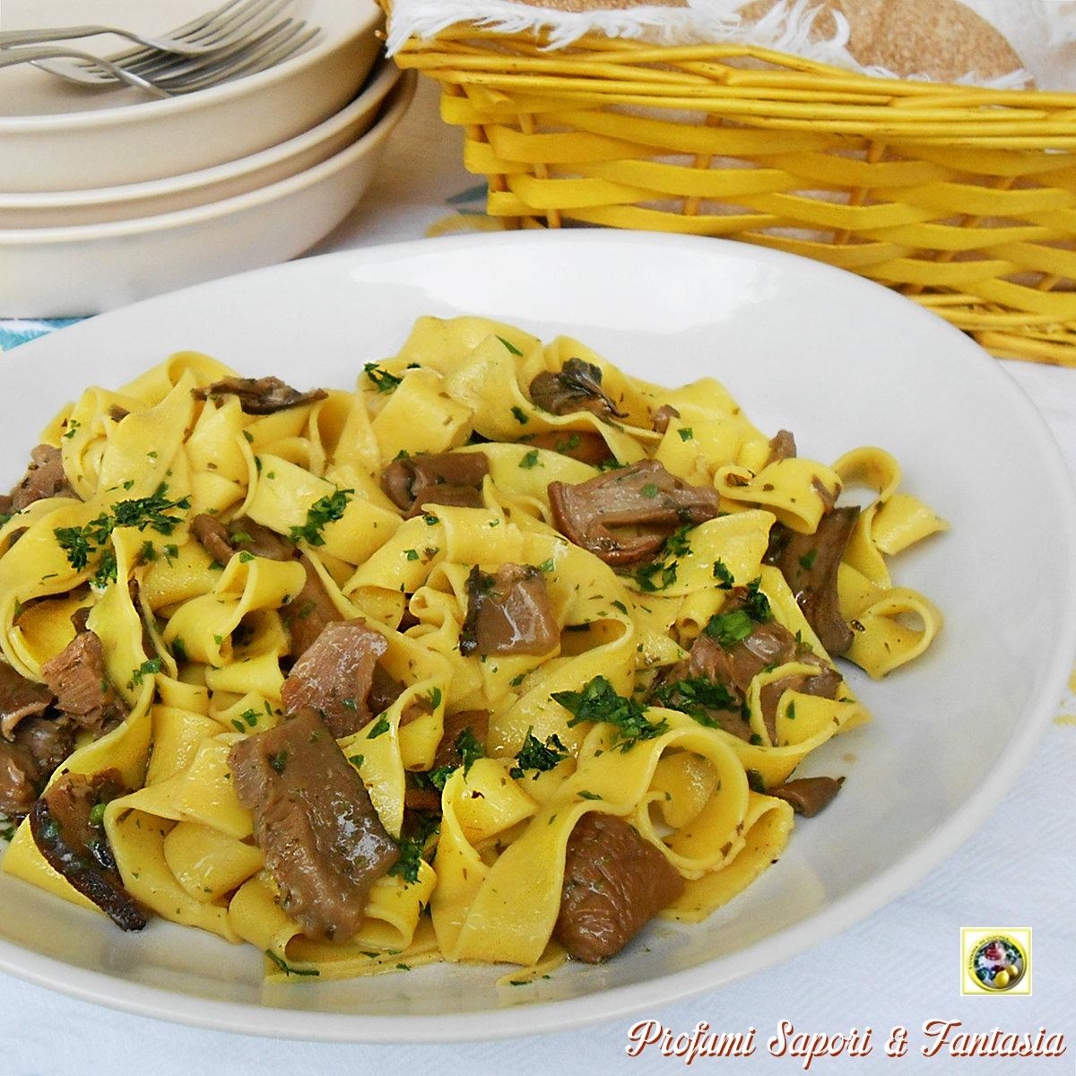 Ricetta pasta ai funghi freschi