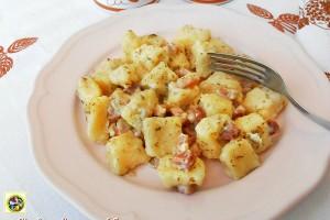 Gnocchi di patate al prosciutto e gorgonzola