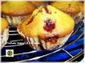 Muffin alla panna con amarene