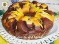 Torta di mele alla panna e cioccolato