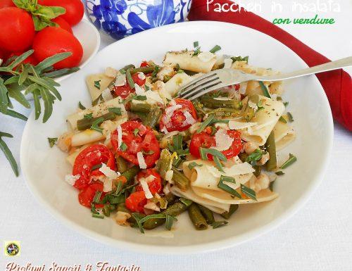 Paccheri in insalata con verdure
