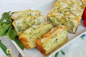 Plumcake salato con zucchine basilico e ricotta