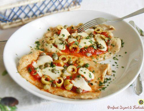 Petto di tacchino alla pizzaiola con capperi e olive