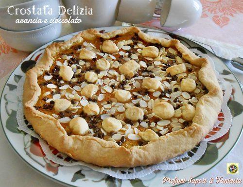 Crostata delizia arancia e cioccolato ricetta