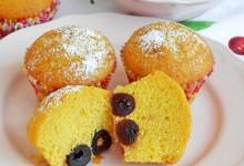 Muffin con amarene sciroppate