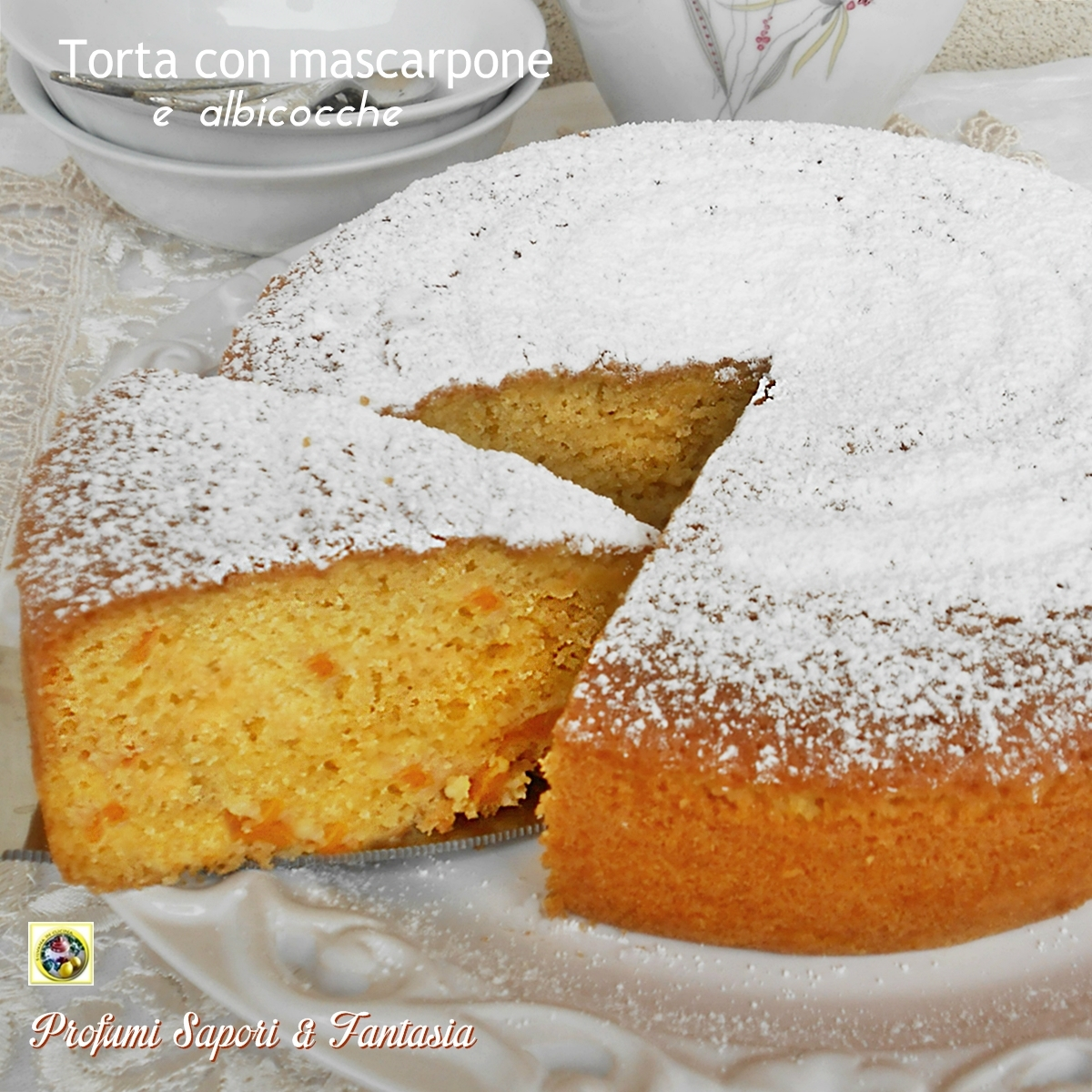 Torta con mascarpone e albicocche Blog Profumi Sapori & Fantasia