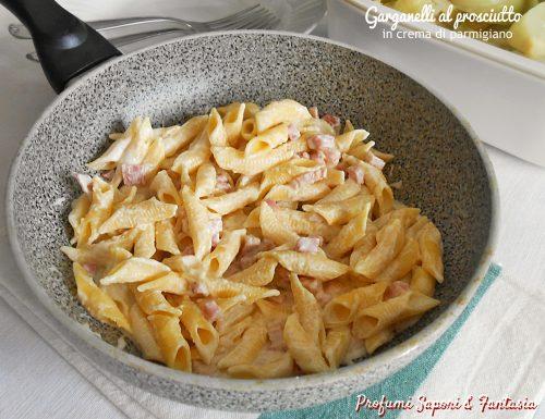 Garganelli al prosciutto in crema di parmigiano