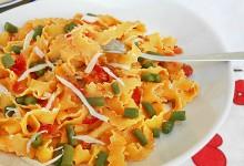 Reginette ai peperoni fagiolini e pecorino