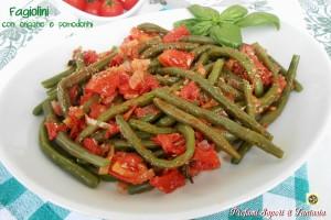 Fagiolini con origano e pomodorini ricetta