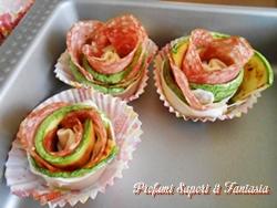 Rose salate con zucchine salame e scamorza Blog Profumi Sapori & Fantasia