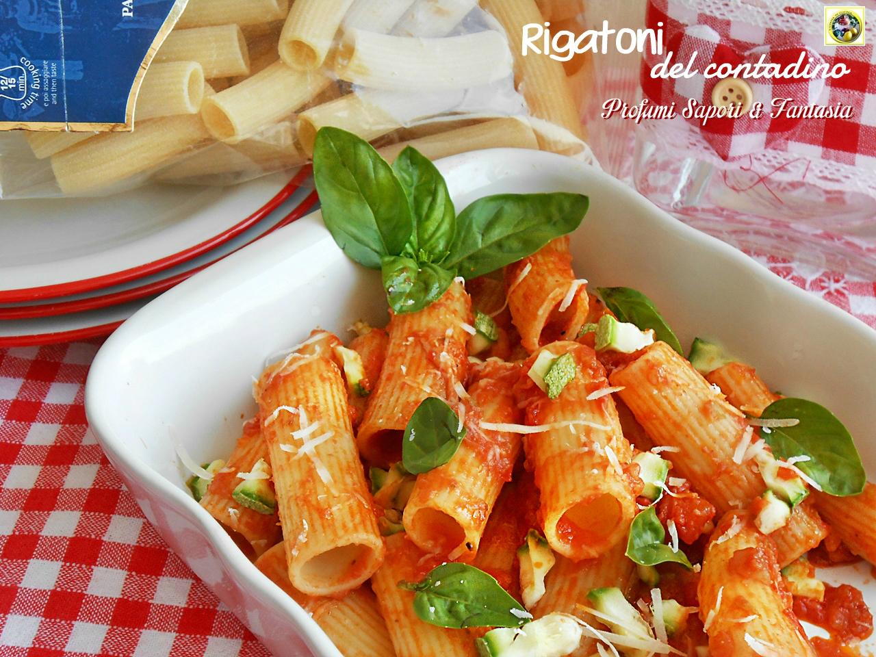 Rigatoni del contadino con zucchine a crudo Blog Profumi Sapori & Fantasia