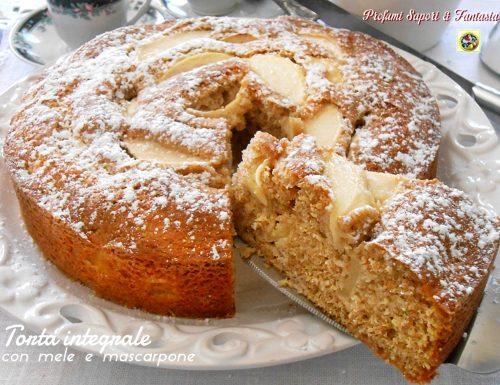 Torta integrale con mele e mascarpone ricetta
