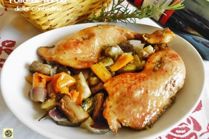 Pollo al forno della contadina ricetta semplice