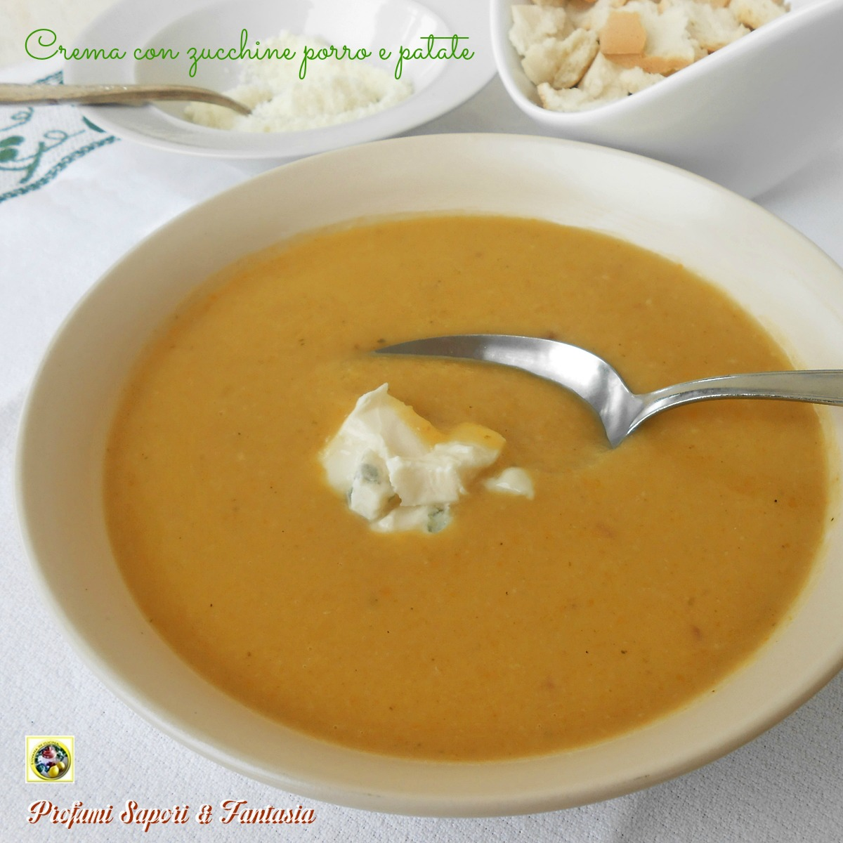 Crema di zucchine con porro e patate