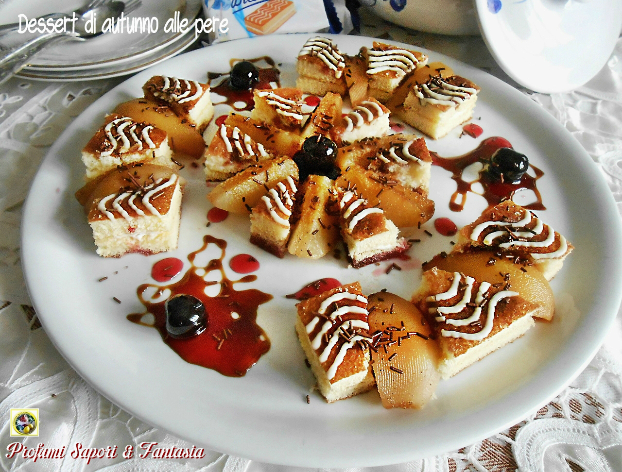 Dessert di autunno alle pere Blog Profumi Sapori & Fantasia