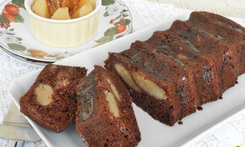Plumcake con pere alla cannella e cacao ricetta