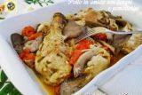 Pollo in umido con funghi e pomodorini
