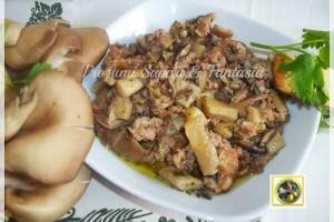 Sugo di funghi sfiandrine e salsiccia