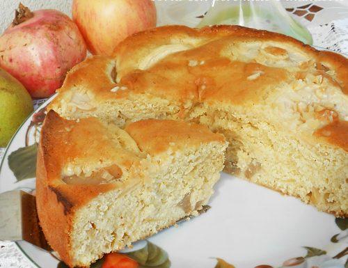 Torta con pere mele e mandorle ricetta