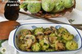 Zucchine e funghi champignon in padella