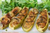 Zucchine ripiene di carne e funghi