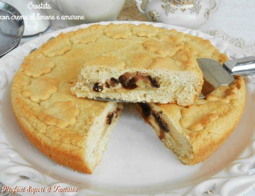 Crostata con crema al limone e amarene ricetta