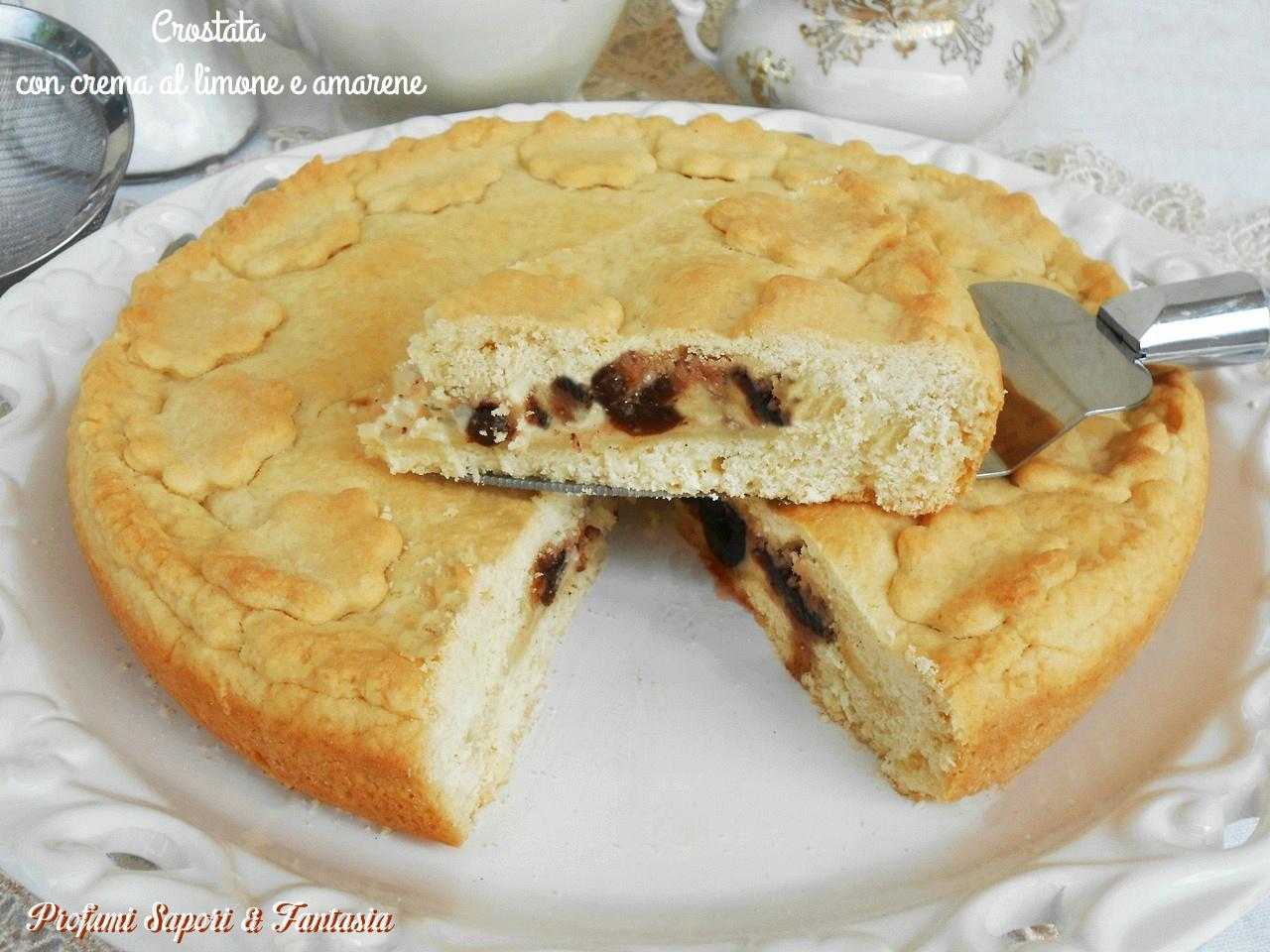Crostata con crema al limone e amarene
