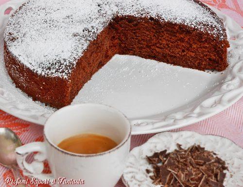 Torta al cioccolato con yogurt e caffe ricetta