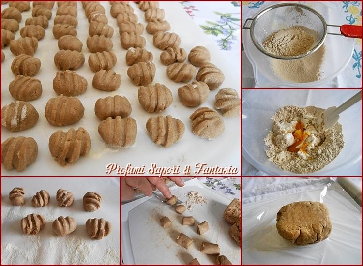Gnocchi di ricotta con farina di castagne